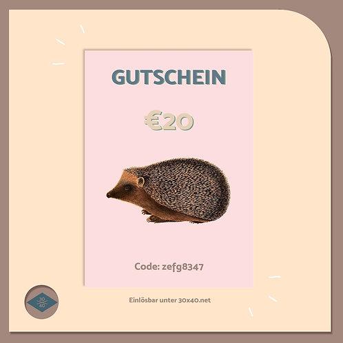 Digitaler Gutschein €20