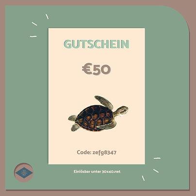 Digitaler Gutschein €50