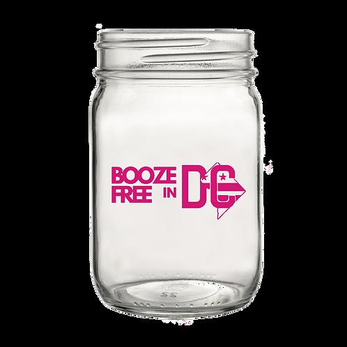 Booze Free in DC Cherry Blossom Mason Jar