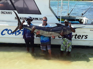100KG Huge Black Marlin!