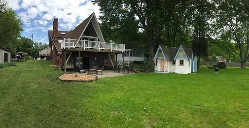 Lakefront, view, lake, a-frame, rent, vacation