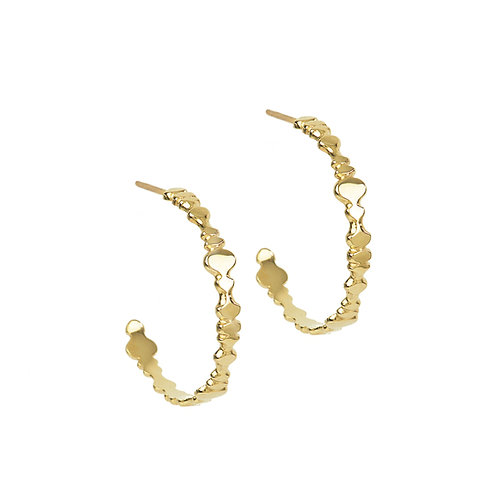 large hoops solid gold shapes silouettes dancing hoops pirouette
