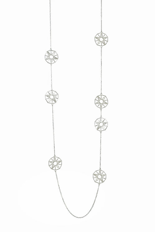 Scattered Star Necklace - silver