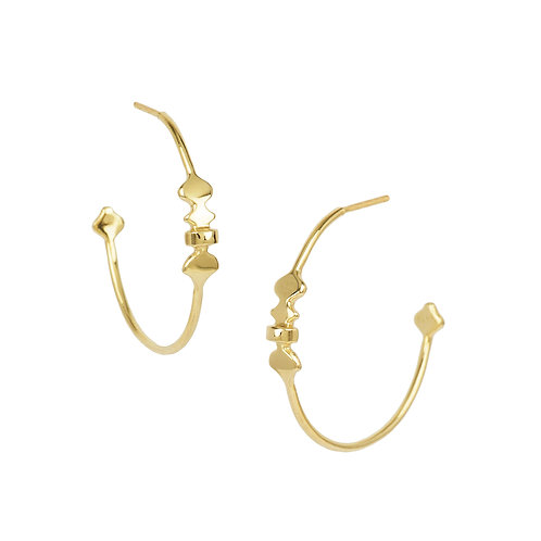 hoop earrings solid gold handmade jewelry london jeweller pirouette