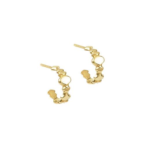 solid gold huggie hoop earrings pirouette everyday earrings