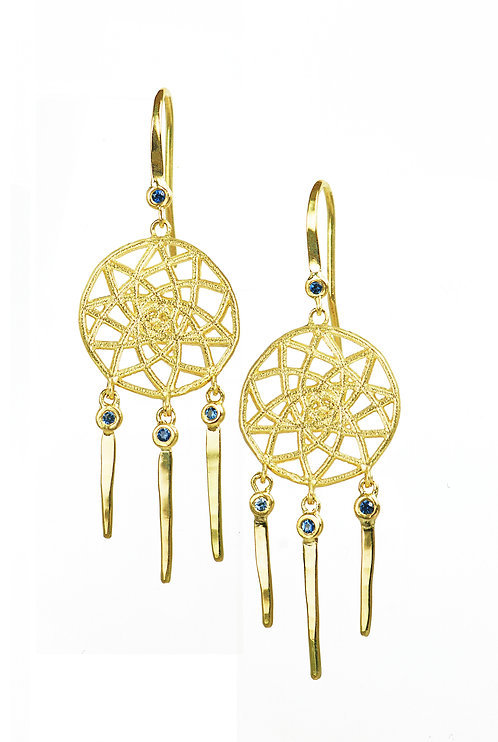 Dreamcatcher Sapphire Earrings