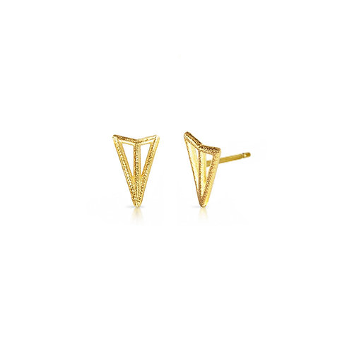 Arrow Studs - gold-plated