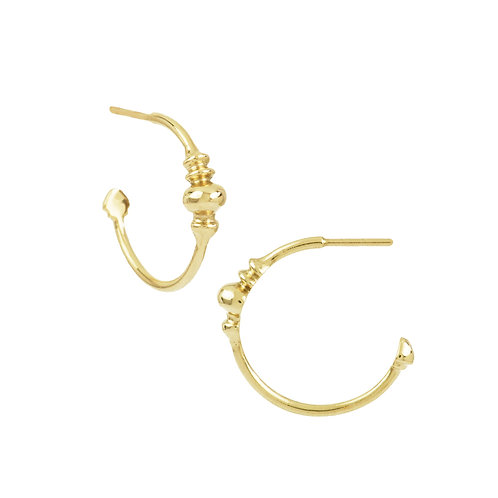 hoop earrings solid gold detail pirouette collection notting hill jeweller