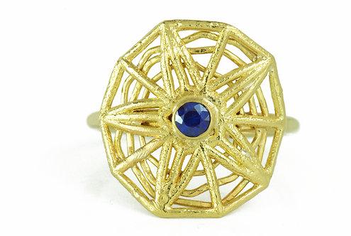 Sapphire Supernova Ring