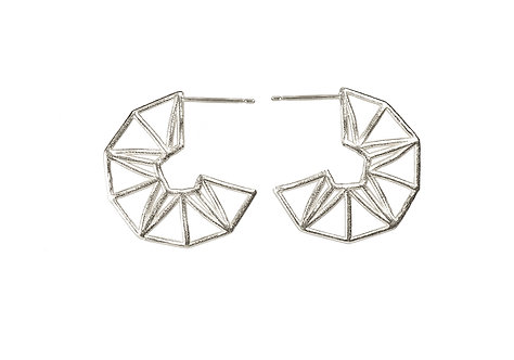 Lucky Star Hoops - silver