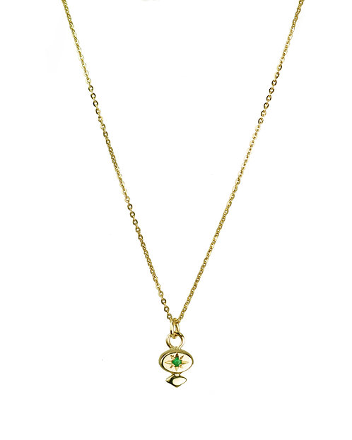 Star-set Tiny Dancer Pendant - diamond, ruby, emerald