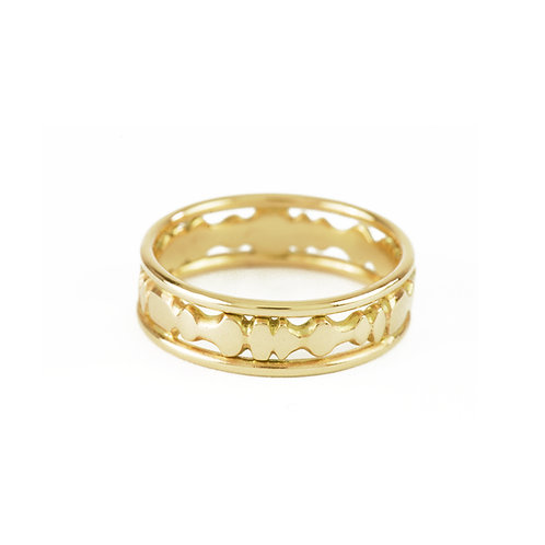 ancient style yellow gold band ring alternative jewelry