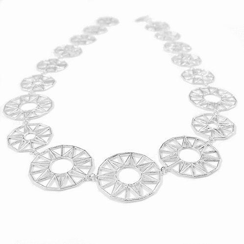 Sun & Star Full Necklace - silver