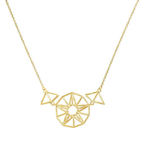 Star Necklace - gold-plated