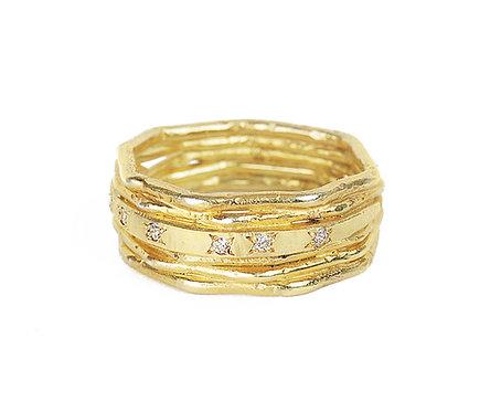 Xagon Diamond Strata Ring