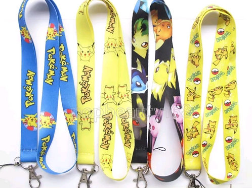 Pokemon Lanyards - Various colours and designs