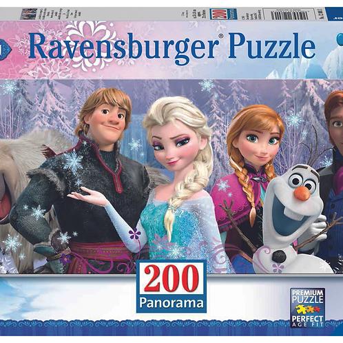 """Ravensburger Панорамный Пазл на 200 элементов  Холодное сердце """"Друзья"""""""