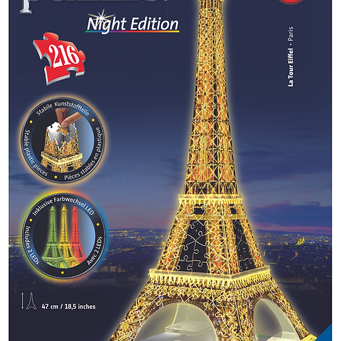 3D Пазл Ночная коллекция. Ночная Ейфелева башня