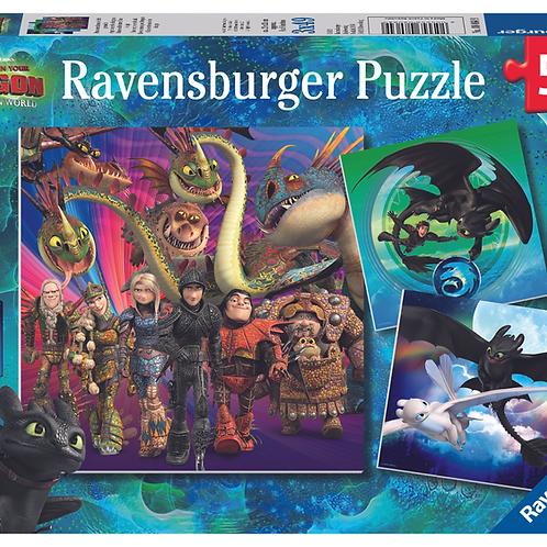Ravensburger Пазл 3x49  Как приручить дракона