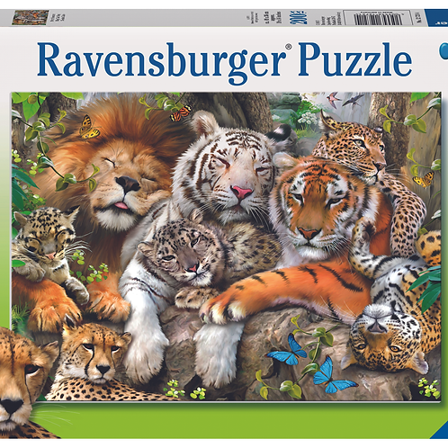 Ravensburger Пазл на 200 элементов  Сиеста больших кошек
