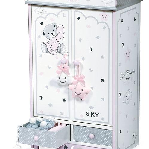 """Серия """"Скай"""" Деревянный кукольный шкаф для одежды"""