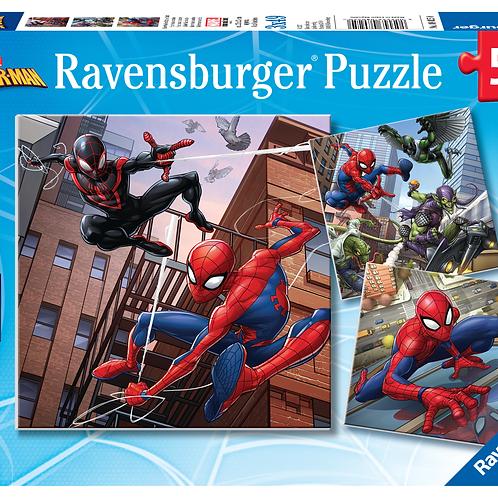 Ravensburger Пазл 3x49  Человек-паук в действии