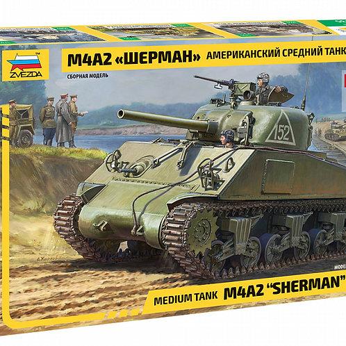 """Сборная модель танка М4А2 """"Шерман"""""""