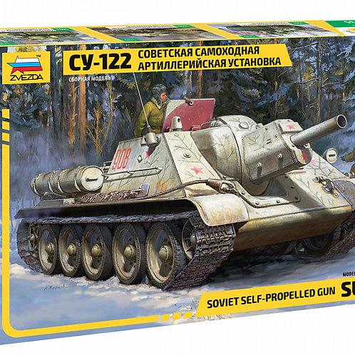 """Сборная модель танка """"СУ-122"""""""