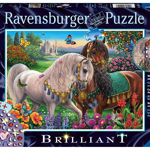 "Ravensburger Brilliant Пазл на 500 элементов  ""Пара сверкающих лошадей"""