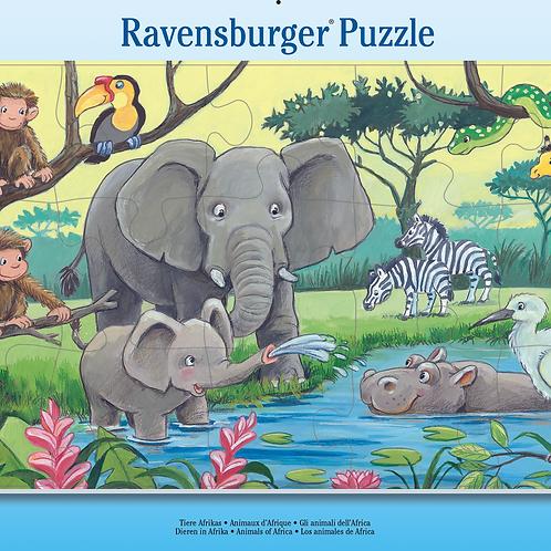 Ravensburger Пазл в рамочке  Животные Африки