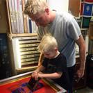 Nick and Eli screen printing tee shirts