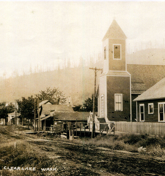Clear Lake Congregational Church on Front Street // Clear Lake, Washington // Circa 1910