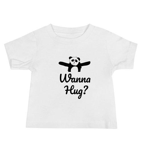 Panda Wanna Hug Baby Jersey Short Sleeve Tee