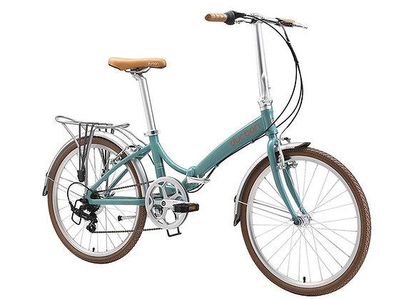 """Bicicleta dobrável Durban aro 24"""" de 6 velocidades Rio XL"""