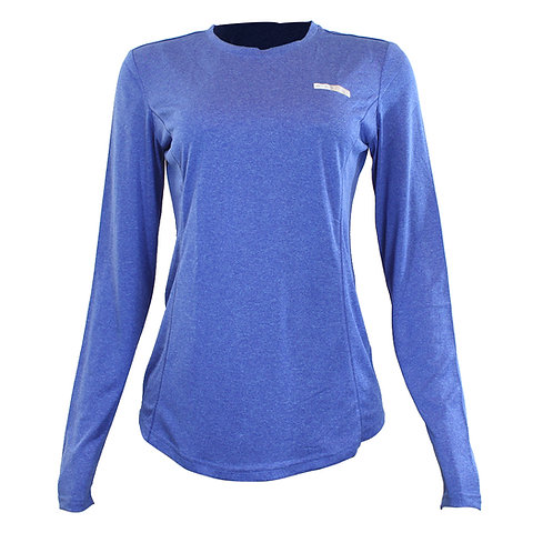 Camiseta feminina manga longa Azteq Air para atividade esportiva em strecht