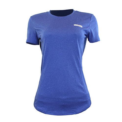 Camiseta feminina manga curta Azteq Air para atividade esportiva em strecht