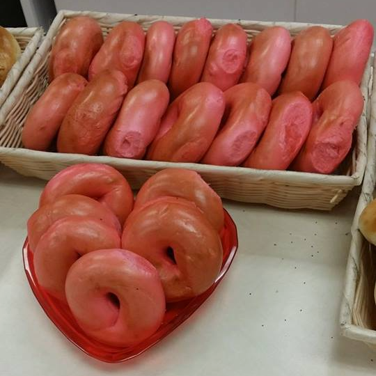 St. Valentines Day Bagels