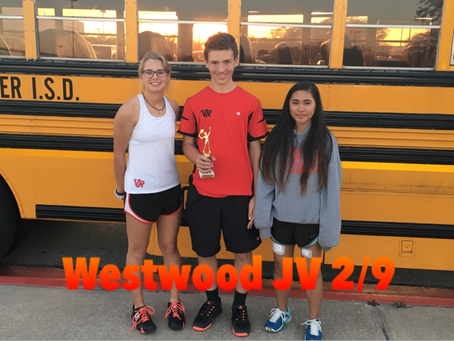 JV brings home three Firsts at Westwood