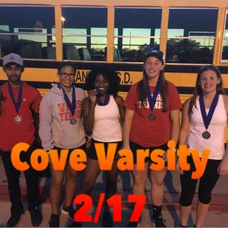 Varsity brings home 5 medals at Cove
