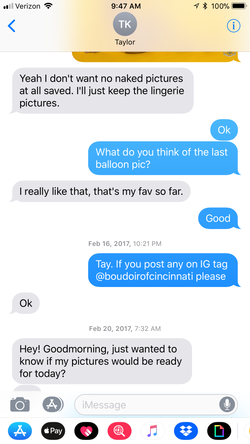 You asked if your pictures were done