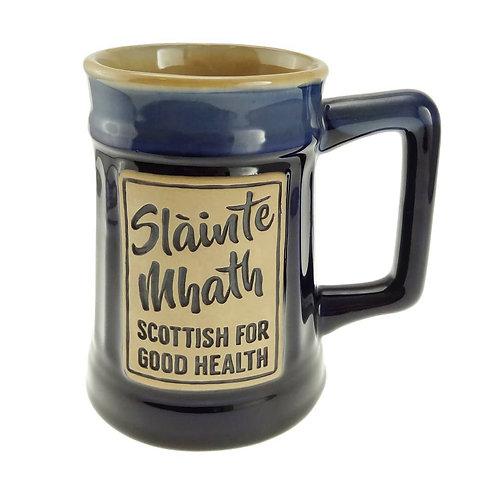 Stoneware Slainte Mhath Beer Mug