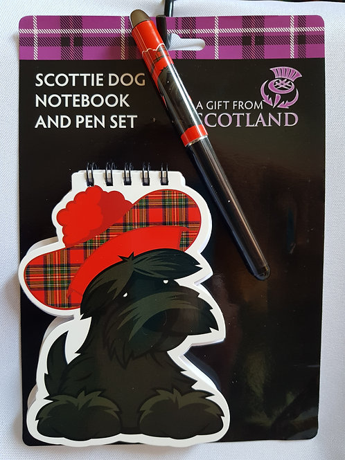 Scottie Dog Notebook & Pen Set