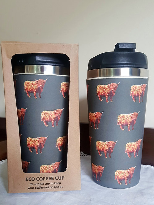 Kilt or Highland Cow Eco Travel Coffee Mug