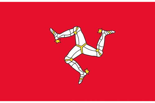Isle of Man Flag - Size Small and Standard