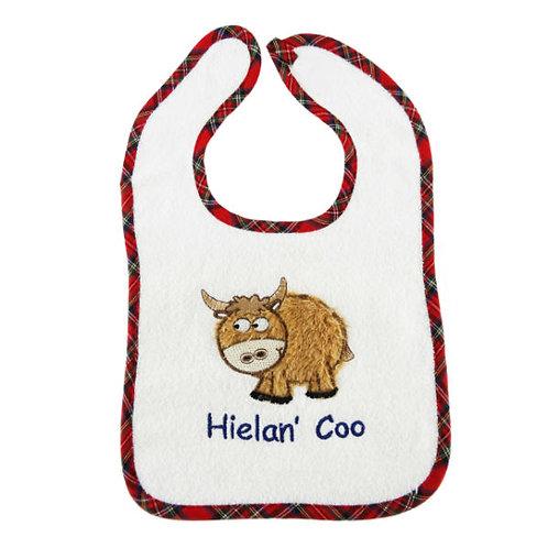 Hielan Coo Embroidered Bib