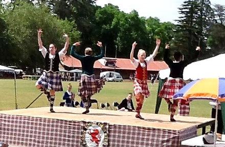 Highland dancers at Daylesford highland gathering