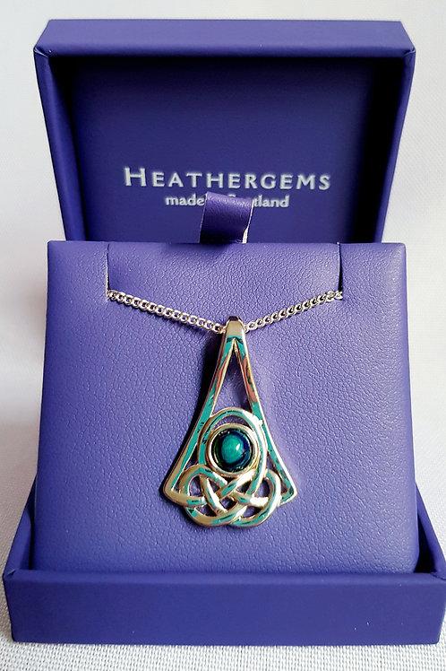 Heathergems Celtic Knot Pendant Necklace