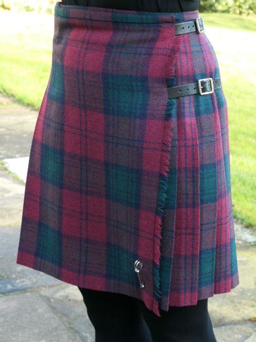 Ladies Flora Shetland Wool Kilt - Lindsay