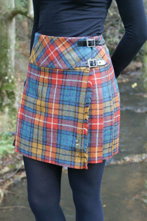 Ladies Isobel Shetland Wool Kilt - Antique Buchanan