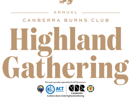Canberra Burns Club Highland Gathering logo